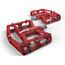 ACROS A-Flat XL Pedalen rood